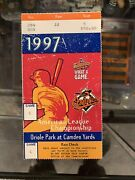 1997 Alcs Indians Orioles Ticket Stubs Clinching Clinch Game 6 Super Rare