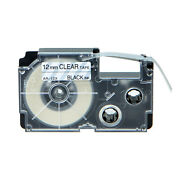 20pk Compatible With Casio Xr-12x Black On Clear Label Tape For Ez Kl-60 12mm