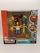 The Simpsons Mcfarlane Toys Couch Gag Deluxe Boxed Set Lot 2619