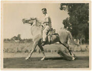 Clark Gable Signed Photo Riding On A White Horse