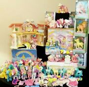 My Little Pony Vintage 80and039s Mix Mlp Rare Figurine Toys And Accessories Lot ❤