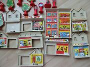 Vintage Lesney Matchbox Play Track Accessories Buildings Trees Signs Lot 1978