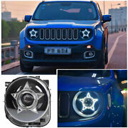 For Jeep Renegade 2015-2018 Led Headlight Assembly Hi/lo Beam Drl Pentagram 2pc