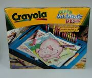 Vintage 1999 Crayola Super Art Activity Desk With Accessories And Box Sealed