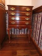 Silverware Flatware Chest On Legs Queen Anne Style Mahogany