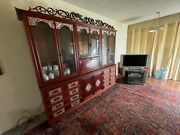 Antique Oriental Display Case / China Cabinet / Credenza From Hong Kong