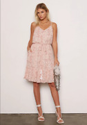 Tart Collections Unity Dress Pale Coral Python White