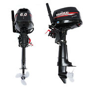 6 Hp 2 Stroke Gasoline Powered Outboard Motor Boat Engine Water Cooling System