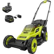 Ryobi Push Lawn Mowers 13 In. 18-volt Lithium-ion Cordless Battery + Charger