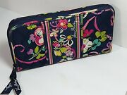 Vera Bradley 2012 Retired Ribbons Quilted Accordion Wallet Clutch Purse Rare