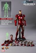 Hot Toys 1/6 Marvel Avengers Mms185 Iron Man Mk7 Mark Vii Special Edition Figure