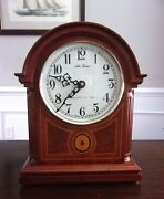 Seth Thomas Barrister Mantel Clock With New Quartz Westminster Chime Movement