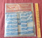 Rare Wade And Butcher Vintage Curved Razor Blades Store Display Ad Usa And Poster