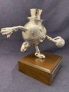 1995 Vintage Gus Macker Basketball Trophy All World Tour 2nd Place Michigan Rare