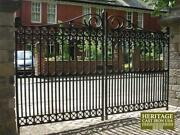 Victorian Cast Iron Driveway Gate - Heavy Casting Ornate Detail Each Side 50off