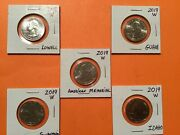 Set Of 2019 Andldquowandrdquo Rare West Point Atb Quarters. All Five 2019 Coins Included