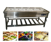 Food Warmer 5 Full Size Well Stainless Steel Electric Steam Table Buffet Server