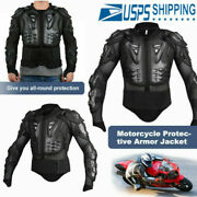 Motorcycle Full Body Armor Jacket Spine Chest Protection Riding Gear Guard Usa--