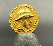 Small Size Currency Jewelry Pendant Old Antique Ancient Indo Greek Gold Coin