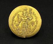 Currency Jewelry Old Antique Ancient Indo Greek's Kushan Sasanian Gold Coin