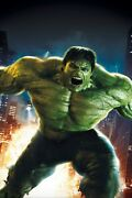 The Incredible Hulk- Poster A0-a4 Film Movie Picture Art Wall Decor Actor