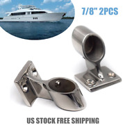 Marine Boat 316 Stainless Steel Hand Rail Fitting 60 Degree Front-lift Stanchion