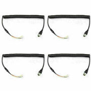 4x Mic Microphone Cable Line For Icom Radio M710 M700 M700pro To Hm-180 Em-101 S