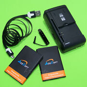 2x 3270mah Large Power Li_ion Battery+charger+3ft Cable For Lg Optimus F3q D520