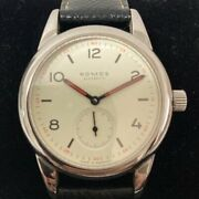 Nomos Club Cl1a1w1 Men's Watch 36mm Manual Winding Classical Rare White Dial
