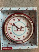 Disney Parks Mickey And Minnie Mouse Retro Kitchen Clock Cherry Keen And Cute