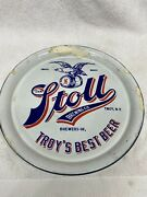Pre-pro Porcelain Stoll Brewing Company Beer Tray Troy New York Troys Best Beer
