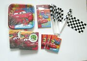 Disney Cars Party Pack New 8 Plates Napkins Invitations Flags Favors Mcqueen