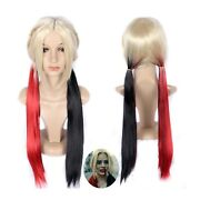 Long Cosplay Wig Party Wigs Full Synthetic Hair 70cm/27.5 For Harley Quinn