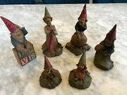 Lot Of 6 Tom Clark Gnome Figurines All Signed