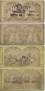 1876 Stereoviews Of Antiques In Museum - Set Of Four - Philadelphia, Pa