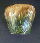 Rrpg Roseville Sun And Moon Jardinière Drip Glazed Planter 7 1/2 Inches Tall