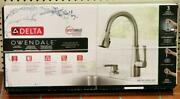 New - Delta Owendale 19875z-spsd-dst Pull-down Kitchen Faucet - Stainless