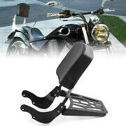Sissy Bar Backrest Pad With Black Luggage Rack For Victory 2003-up Vegas Kingpin