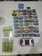 Lot Of 42 Leap Frog Leapster Game Cartridge. Pink Leapster 2 Has No Cord. Look