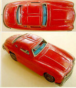 1950 Tin Plate Toy Japan Mercedes Benz 300 Sl Car Battery Operated Yanoman Toys
