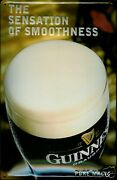 Guinness Smoothness Tin Sign Shield 3d Embossed Arched 7 7/8x11 13/16in