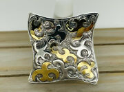 Authentic John Hardy Sterling Silver And 22kt Gold Dayak 2.5 Pin