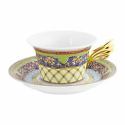 Versace By Rosenthal,germany 25 Years Russian Dream Tea Cup, Saucer, Dessert