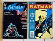 Batman A Death In The Family And A Lonely Place Of Dying 1988-1990 Dc Comics Tpb