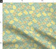 Springcolors Bird Chicken Chick Easter Spoonflower Fabric By The Yard