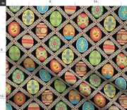 Egg Painted Eggs Easter Holiday Spring Pysanky Spoonflower Fabric By The Yard
