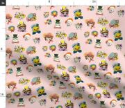 Vintage Cute Kitsch Spring Easter Bonnets Spoonflower Fabric By The Yard