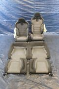 2019 Ford Mustang Shelby Gt350 Oem Cloth/suede Front And Rear Seats Damage 1289