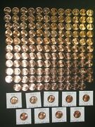 1959-2021 Lincoln Cent Set Complete Bu 143 Coin 1960-pd Small Date All 7 1982