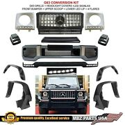 G63 Amg Body Kit Bumper Gt Grille Flares Lip Led Signal Conversion Facelift 4x4